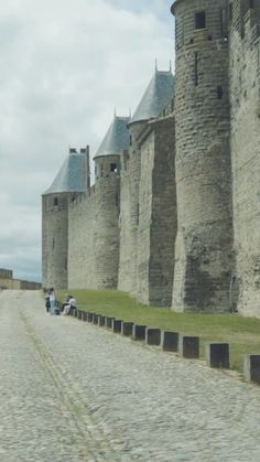 Carcassonne is a medieval fortified city set atop a hill overlooking the Aude River. Chateau Medieval, Medieval Town, Medieval Castle, Carcassonne France, Places To Travel, Places To Visit, Canal Du Midi, Belle France, French Castles