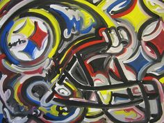 Steelers Painting by Justin Patten Sports Art by stormstriker, $110.00