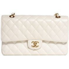 CHANEL Caviar Quilted Medium Double Flap White
