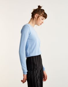 Basic soft sweater - Jumpers - Knit - Clothing - Woman - PULL&BEAR United Kingdom