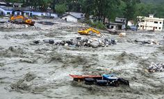 Closure of New Delhi airport and holy cities in north India because of rains