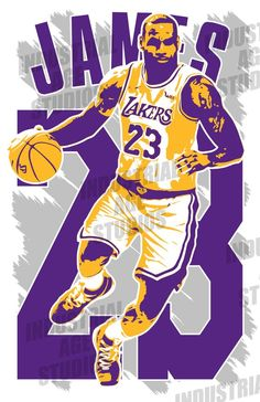132d456cea6f LeBRON JAMES 11x17 art print.