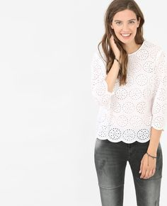 Blouse broderie anglaise blanc Bluse 8c4a26c737