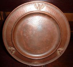 Roycroft Hammered Copper Arts Crafts Plate