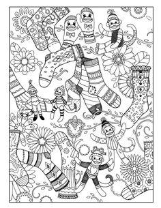 Free 92 Page Holiday Coloring Book Coloring books Holidays and Artist