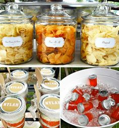 Different way of setting out foods at parties