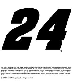 Fan of Jeff Gordon? Download and use this stencil to help decorate your Hendrick Motorsports-themed pumpkin.
