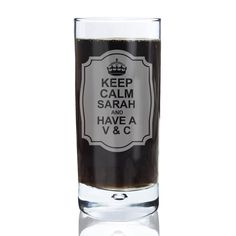 Personalised Keep Calm Hi Ball Bubble Glass | £14.99 | Special Moment