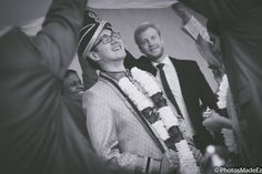 Candid photo of Groom in Bengali Wedding Ceremony in Hyatt Jersey City by PhotosMadeEz - Best photographers for Photo Journalism/Editorial Wedding Photography. Featured in Maharani Weddings. Best Wedding Photographer PhotosMadeEz Award winning Photographer Mou Mukherjee. Fusion Wedding.