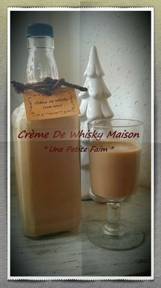 Christmas Gift Ideas 2019 : Homemade Whiskey Cream This sweet liqueur is a personalized gift that I made to my man's mother, it's his sin mignon. Homemade Food Gifts, Diy Food Gifts, Gourmet Gifts, Christmas Gifts For Him, Christmas Desserts, Christmas Christmas, Christmas Recipes, Homemade Whiskey, Homemade Kahlua