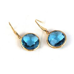 Blue Moon Pool Drops Earrings by ColorVanilla on Etsy, $17.00