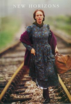 Classic daydress from the Autumn 1993 collection. This was an exclusive Laura Ashley print.