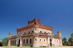 This famous castle was built by Francisco Piria, a businessman and alchemist that also had designed Piriápolis city.  Piriapolis, Uruguay.