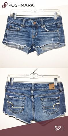 Perfect Denim Shorts Perfect little short shorts from American Eagle. Like new! Size 00. American Eagle Outfitters Shorts Jean Shorts