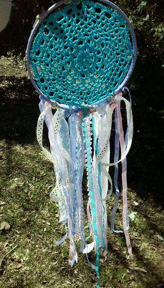 A personal favorite from my Etsy shop https://www.etsy.com/listing/228532615/big-dream-catcher-aqua-crochet-dream