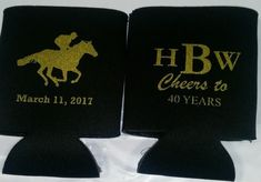 Monogram Birthday Koozies horse race party favors can coolers personalized Screen Printed includes a 1 color / 1 location lot size 6 to 100 screen print quick shipping with stock art design Description Ordering Details Shipping 40th Birthday Favors, 40th Birthday Parties, Horse Racing Party, Race Party, Thing 1, Neon Purple, Derby Day, Wedding Invitation Templates, Ink Color