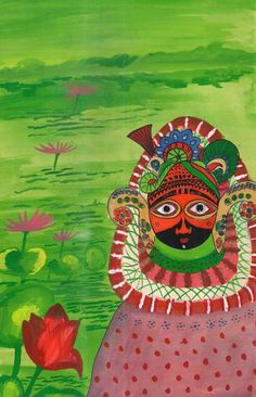 श्यामबाबा भरमण करते हुए,  painting by jai shekhar