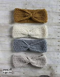 Knotted Headband - Free Crochet Pattern from Rescued Paw Designs.