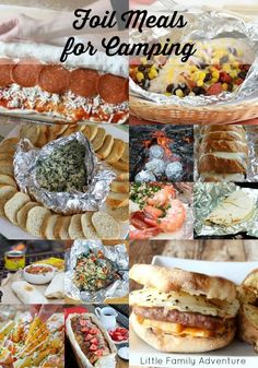 Tin Foil Meals for Camping - Create delicious recipes for breakfast, lunch, dinner, and snacks on the grill or on your next camping trip.