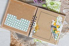 Скрап на диване: Миник с акварельными цветами