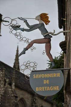 charming Brittany shop sign