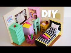 Minyatür Yatak Odası | Kendin Yap | Dollhouse - YouTube