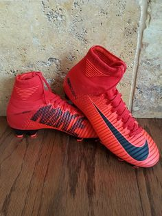 921526-616 6 34 Nike Mercurial Superfly V FG Jr Soccer Cleats Red Youth 4.5Y