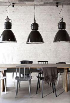 Voorbeeld lampen boven tafel