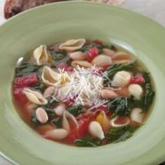 Pasta & Bean Soup - adding this my latest 2-week menu plan.  Maybe serve with whole wheat cornbread?