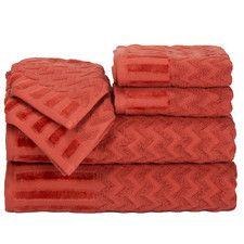 Lavish Home Chevron Cotton Towel Set - Brick Bath Towel Sets, Bath Towels, Windsor Homes, Linen Store, Bath Linens, Beautiful Homes, Chevron, Brick, Cotton