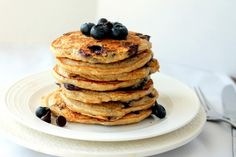 Ambitious Kitchen: Blueberry Chocolate Chip Quinoa Pancakes. Delicious! My new favorite breakfast!