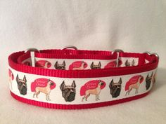 Nylon w/Great Dane Ribbon Martingale or by DogCollarsByDesign, $14.75