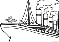Coloring Pages/LineArt Titanic