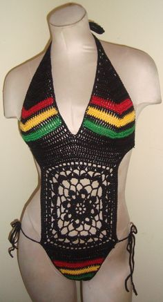2013 Bob Marley Inspired Crochet Bathing Suit on Etsy, $75.00