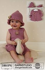 Ravelry: b14-4 Crocheted Dress, hat and bag pattern by DROPS design