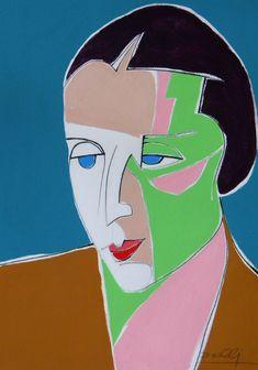 Ritratto di Tamara de Lempicka. Portrait of Tamara de Lempicka. 2013. Gabriele Donelli