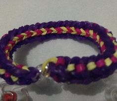 Reversed side of the lovelinks bracelet #loves2loom