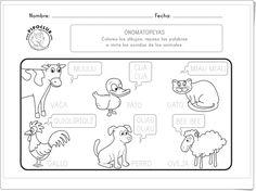 """Onomatopeyas de animales"" (Ficha de Pipo) Spanish Lesson Plans, Spanish Lessons, Bullet Journal, How To Plan, Farm Animals, Instagram, Speech Language Therapy, Reading Activities, Preschool Education"