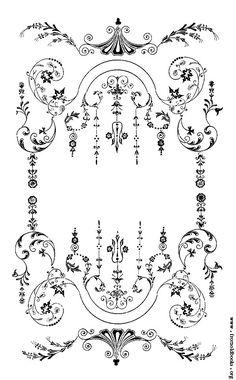 Alyssabeths Vintage: Free Red & White or Black & White Victorian ...