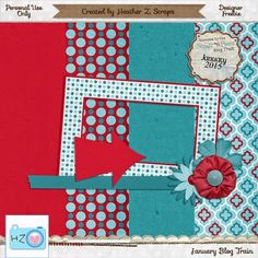 January 2015 Scraps-N-Pieces Blog Train:  Heather Z. Scraps