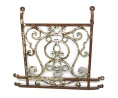 Antique wrought iron work imported from Europe. Window Grill, Window Box, Iron, Windows, Decorative Tray, Home Decor, My Room