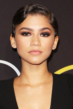 Try Zendaya's smokey eye and nude lip combo for a Valentine's Day date night.