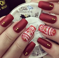 Its All about Trending Fashion Dress,Fashion Ideas,WomenFashion,MenFashion and much more. Red Nail Art, Shape Design, Nail Art Designs, Nails, Nail Nail, Manicures, Beauty Makeup, Make Up, Shapes