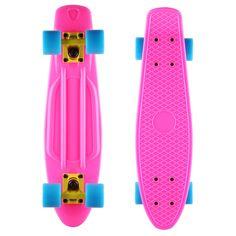 "Complete+Cruiser+Retro+Skateboard+Penny+Style+Plastic+Deck+Board+Street+22""+US+#Unbranded"