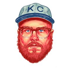Brandon Loving - GIFs give me a headache. Illustration Sketches, Character Illustration, Graphic Illustrations, Beard Art, Sexy Beard, Gifs, Graphic Design Posters, Surreal Art, Design Crafts