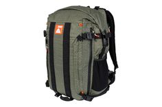The Orange Label Rolltop, 40L pack made with Dyneema ripstop fabric and Fidlock magnetic buckles. Laptop and bladder sleeve. MOLLE Webbing. Raincover included!