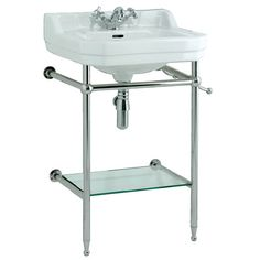 Edwardian 560 Basin With Stand - 2 Tap Holes | bathstore