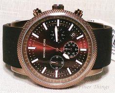 Michael Kors Chronograph Scout Black Silicone Men's Watch