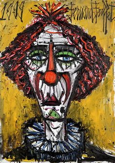 dotifications: cavetocanvas: Bernard Buffet, Clown, 1999 TumbleOn)