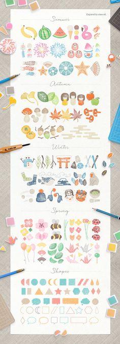 HANKO Japanese Stamp Kit by Craig Rozynski on @creativemarket